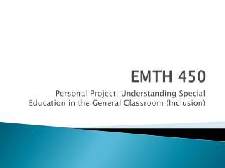 EMTH 450