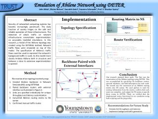 Emulation of Abilene Network using DETER