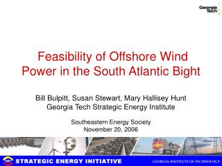 feasibility of offshore wind power in the south atlantic bight
