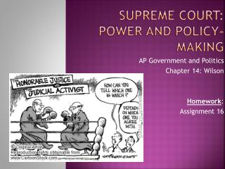 Supreme Court: Power and Policy-Making