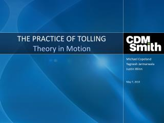 THE PRACTICE OF  TOLLING