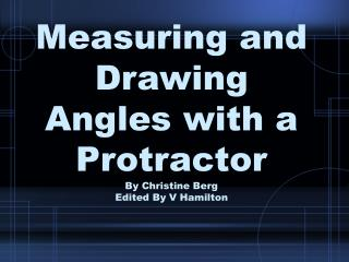 measuring and drawing angles with a protractor by christine berg ...