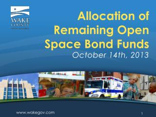 Allocation of Remaining Open Space Bond Funds