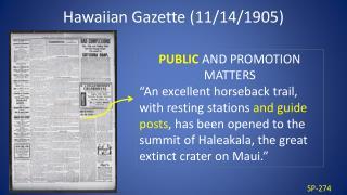 Hawaiian Gazette (11/14/1905)