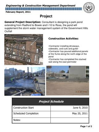 Construction Activities: