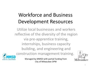 Workforce and Business Development Resources