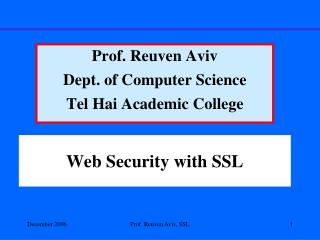 Web Security with SSL