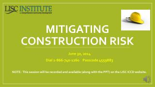 Mitigating Construction Risk