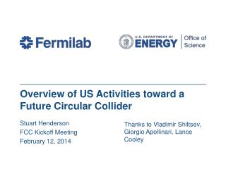 Overview of US Activities toward a Future Circular Collider