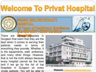 Privat hospital- Best Hospital in Gurgoun