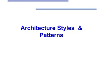 architecture styles   patterns