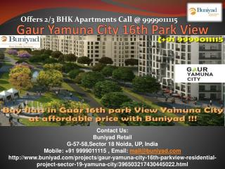 Gaur 16th Park View Yamuna City – New launch In Gaur Yamuna