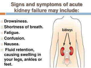 Kidney Failure Symptoms, Signs, and treatment