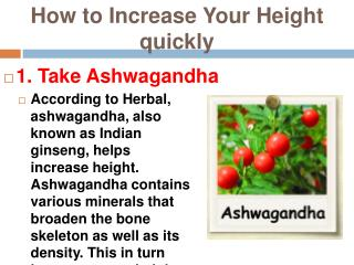 How to Increase height quickly