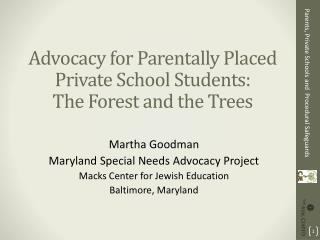 Parents, Private Schools and  Procedural Safeguards