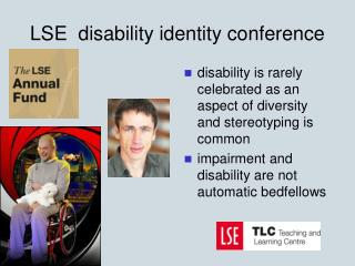 LSE  disability identity conference