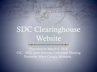 SDC Clearinghouse Website