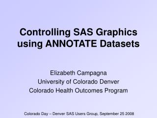 controlling sas graphics using annotate datasets