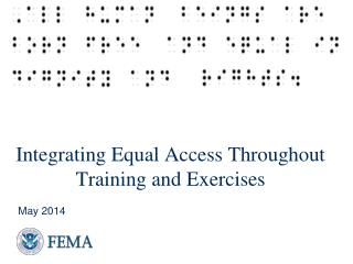 Integrating  Equal Access Throughout Training and Exercises