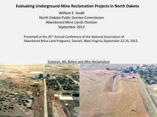 Evaluating Underground Mine Reclamation Projects in North Dakota