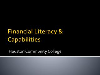Financial Literacy & Capabilities
