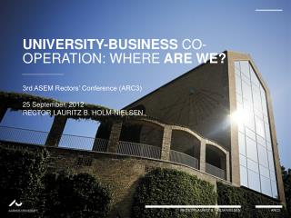 UNIVERSITY-BUSINESS  CO-OPERATION:  WHERE  ARE  WE?