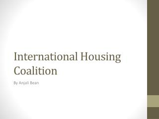 International Housing Coalition