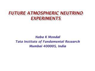 Future Atmospheric Neutrino Experiments