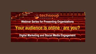 Webinar Series for Arts Presenters
