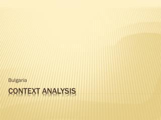 Context analysis