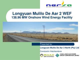 Longyuan Mulilo De Aar 2 WEF 138.96 MW Onshore Wind Energy Facility