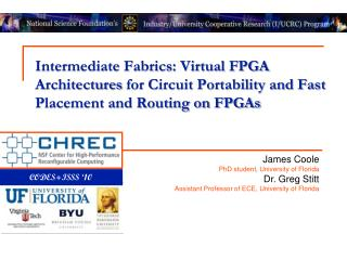 Intermediate Fabrics: Virtual  FPGA Architectures  for Circuit Portability and Fast  Placement and Routing on FPGAs