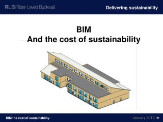 BIM And the cost of sustainability