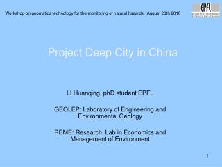 Project Deep City in China
