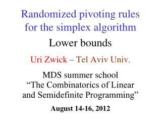 Uri Zwick  � Tel  Aviv  Univ.