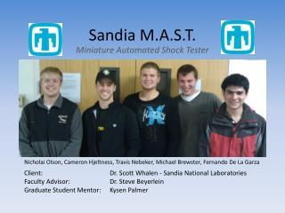 Sandia M.A.S.T.