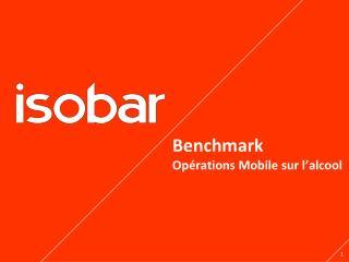 Benchmark Opérations  Mobile sur  l'alcool