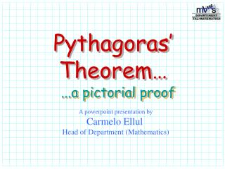 pythagoras theorem a pictorial proof