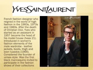 W edding dresses from Yves Saint Laurent