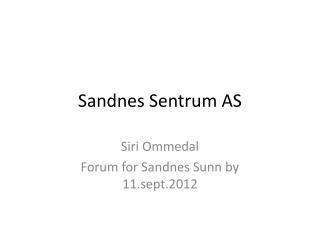 Sandnes Sentrum AS