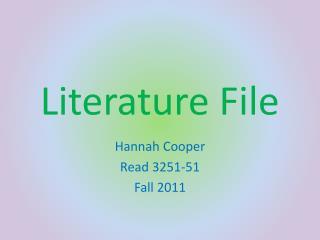 Literature File