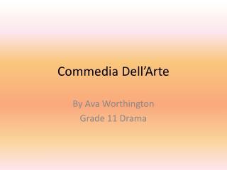 Commedia  D ell�Arte