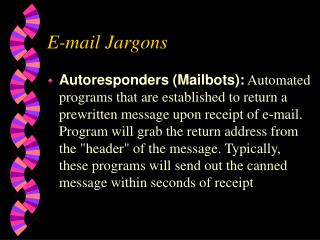 e-mail jargons