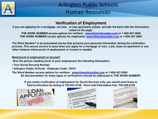 Arlington Public Schools Human Resources