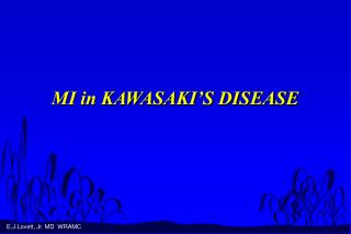 mi in kawasaki s disease
