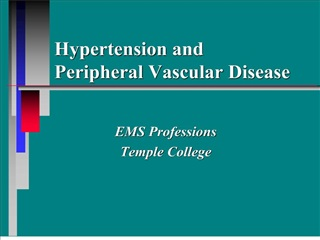 hypertension and peripheral vascular disease