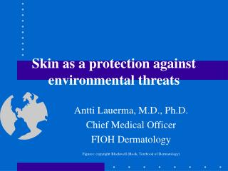 skin as a protection against environmental threats