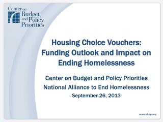 Housing Choice  Vouchers: Funding  Outlook and Impact on Ending Homelessness