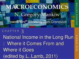 National  Income in the Long Run :   Where it Comes From and Where it  Goes (edited by L. Lamb, 2011)