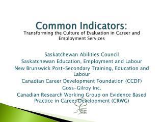 Common Indicators: